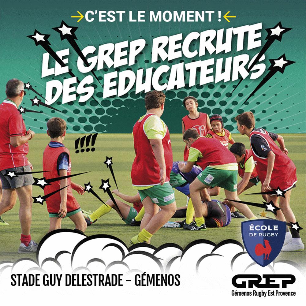 LE GREP RECRUTE DES ÉDUCATEURS